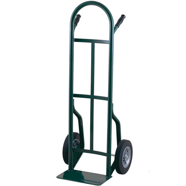 "Harper 53T77 Continuous Dual Pin Handle 600 lb. Steel Hand Truck with 8"" x 1 5/8"" Mold-On Rubber Wheels"