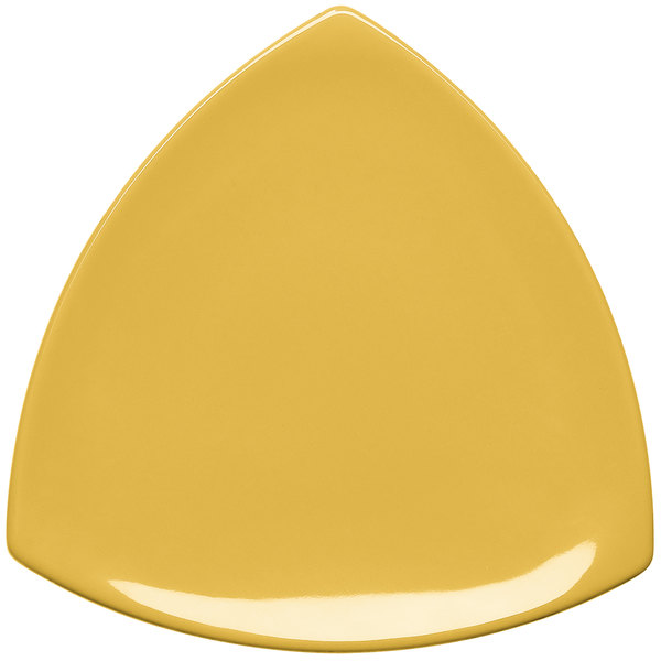 "Elite Global Solutions D11T Triangulation Yellow 10 1/4"" Melamine Triangle Plate"