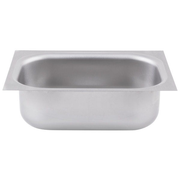 """Eagle Group FDI-10-14-5-1 One Compartment 16"""" x 12"""" Seamless Weld In Sink - 5"""" Deep"""