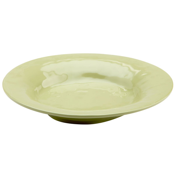 Elite Global Solutions D1012 Tuscany 18 oz. Weeping Willow Green Melamine Soup / Pasta Bowl