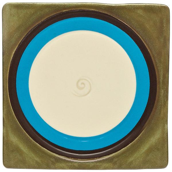 "Elite Global Solutions V951 Sweet Tart Pickled Punch 9 1/2"" Square Plate - 6/Case"