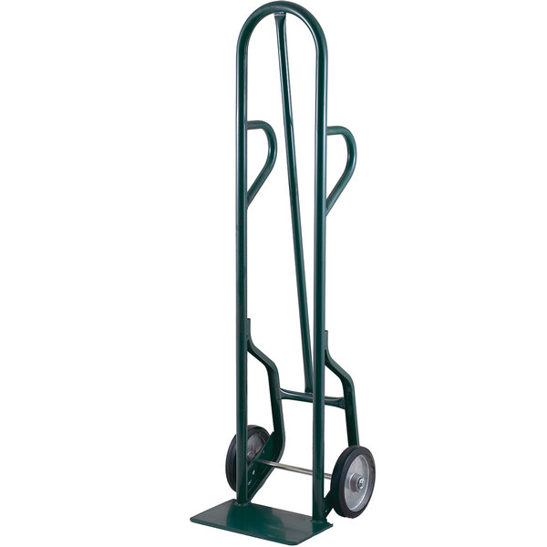 """Harper 34T85 Dual Loop Handle 800 lb. Tall Steel Hand Truck with 8"""" x 2"""" Solid Rubber Wheels"""