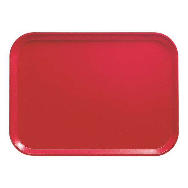 """Cambro 1622521 16"""" x 22"""" Rectangular Cambro Red Fiberglass Camtray - 12/Case"""