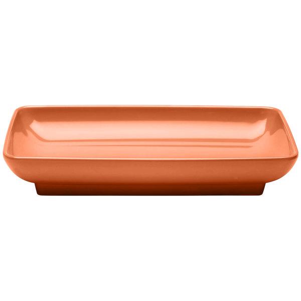 """Elite Global Solutions M85145 Pappasan Sunburn Terra Cotta 14 1/2"""" Rectangular Melamine Platter"""