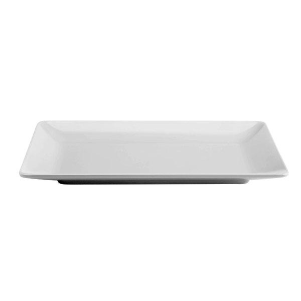 """Elite Global Solutions M1811RC Symmetry Display White 18"""" x 11 1/2"""" Rectangular Melamine Platter"""