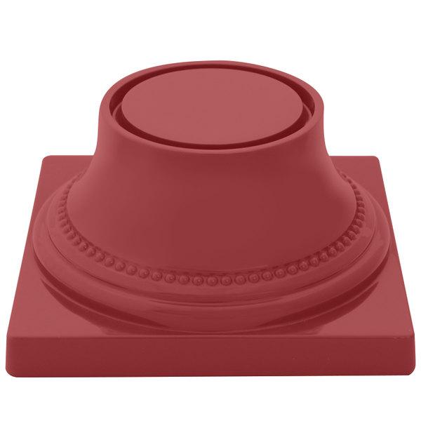 "Elite Global Solutions M74P Symmetry Cranberry 3 3/4"" Pedestal Base"