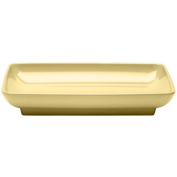 "Elite Global Solutions M85145 Pappasan Banana Crepe 14 1/2"" Rectangular Melamine Platter"