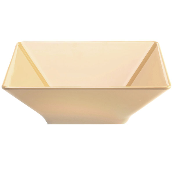 Elite Global Solutions M1212SQ Symmetry Banana Crepe 4.75 Qt. Square Melamine Bowl