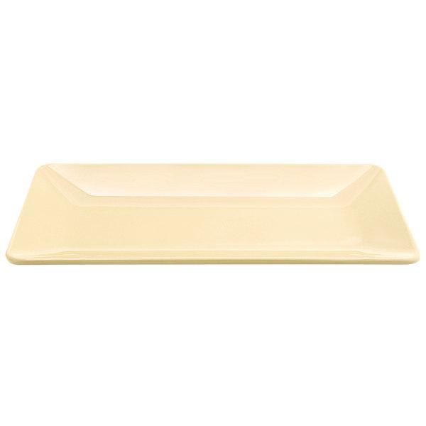"""Elite Global Solutions M168RC Symmetry Banana Crepe 16"""" x 8"""" Rectangular Melamine Platter"""