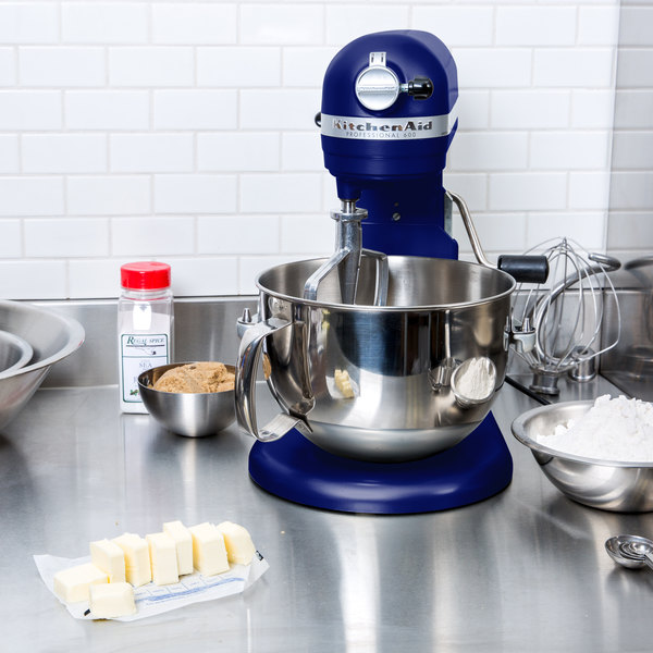 KitchenAid KP26M1XBU Cobalt Blue Professional 600 Series 6 Qt ...