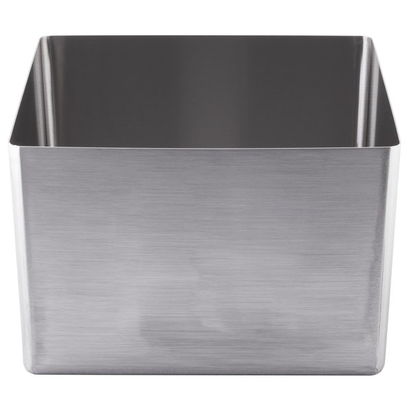 "Eagle Group FNWNF-18-18-12-1 Stainless Steel 18"" x 18"" Fabricated Straight Wall Weld In Sink Bowl - 12"" Deep"