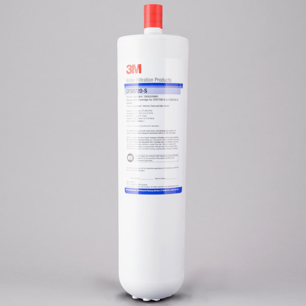 """3M Water Filtration Products 5631904 12 7/8"""" Replacement Sediment Reduction Cartridge with Scale Inhibition - 5 Micron and 1.5 GPM Main Image 1"""