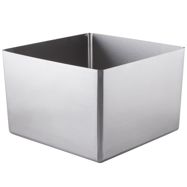 """Eagle Group FNWNF-20.5-20.5-8-1 Stainless Steel 20 1/2"""" x 20 1/2"""" Fabricated Straight Wall Weld In Sink Bowl - 8"""" Deep Main Image 1"""