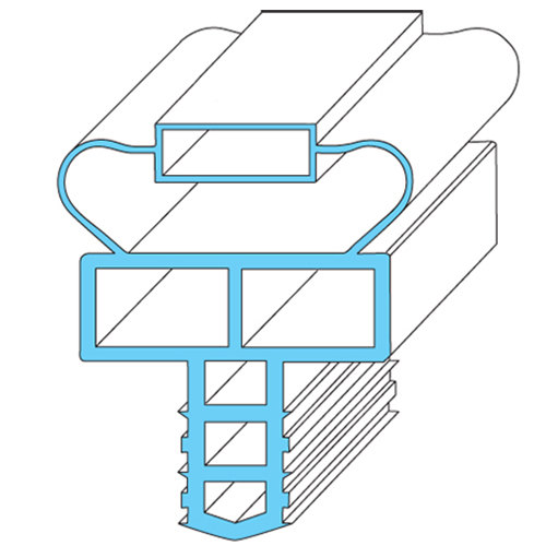 "Randell INGSK1025 Equivalent Magnetic Door Gasket - 21 1/2"" x 24 1/4"" Main Image 1"