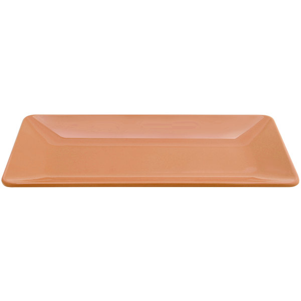 """Elite Global Solutions M168RC Symmetry Sunburn Terra Cotta 16"""" x 8"""" Rectangular Melamine Platter"""