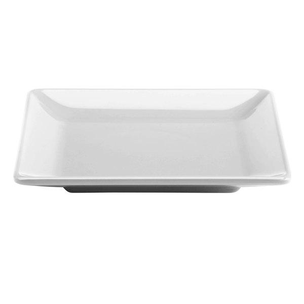 "Elite Global Solutions M99SQ Symmetry Display White 9"" Square Melamine Plate"