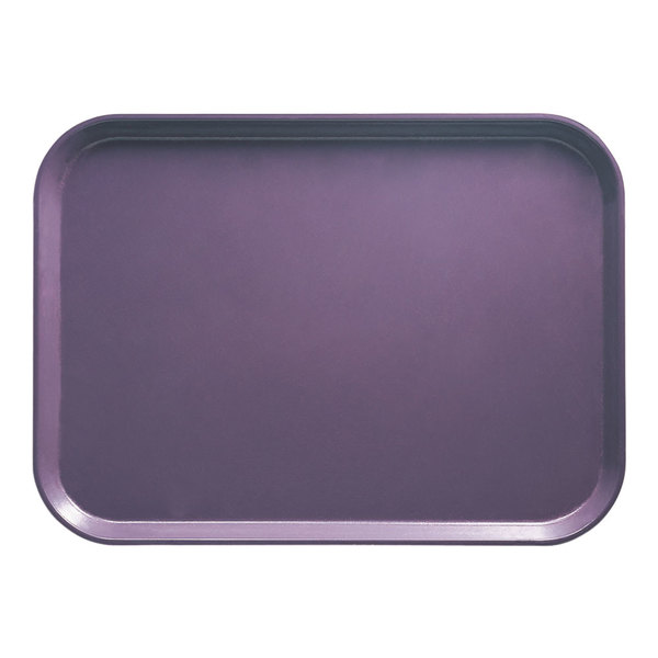 "Cambro 1826551 17 7/8"" x 25 3/4"" Rectangular Grape Customizable Fiberglass Camtray - 6/Case"