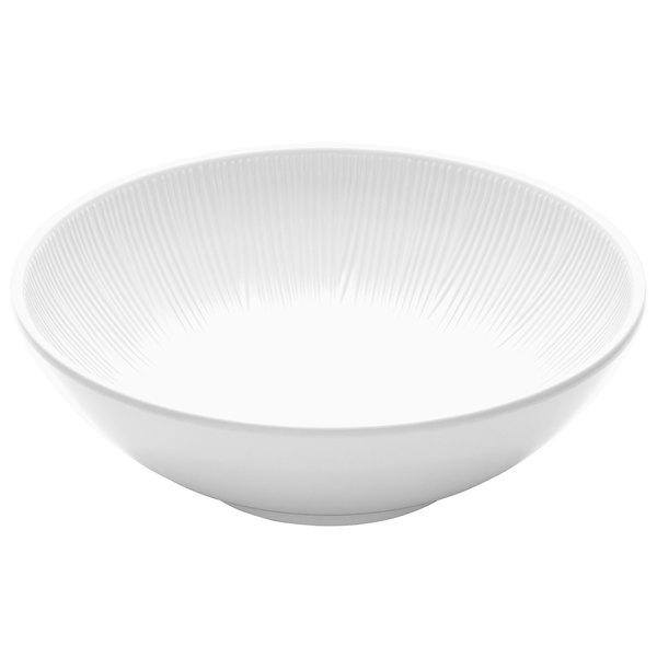 Elite Global Solutions M10R325T Sunburst White 2.5 Qt. Melamine Bowl