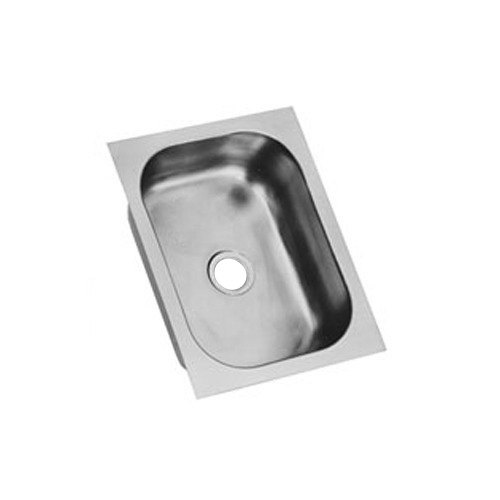 """Eagle Group FDI-20-20-5-1 One Compartment 22"""" x 22"""" Seamless Weld In Sink - 5"""" Deep"""