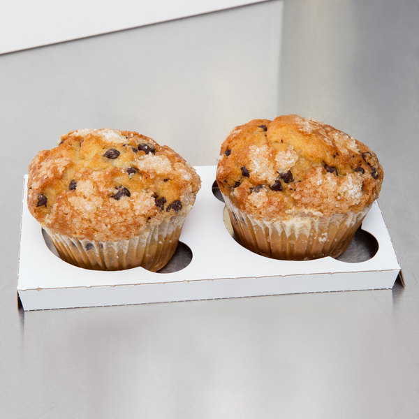Reversible Cupcake / Muffin Insert - Holds 2 Muffins or Jumbo Cupcakes - 200/Case
