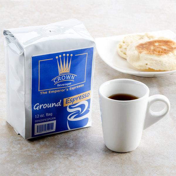 Crown Beverages Emperor's Ground Espresso 12 oz. Bag - 6/Case