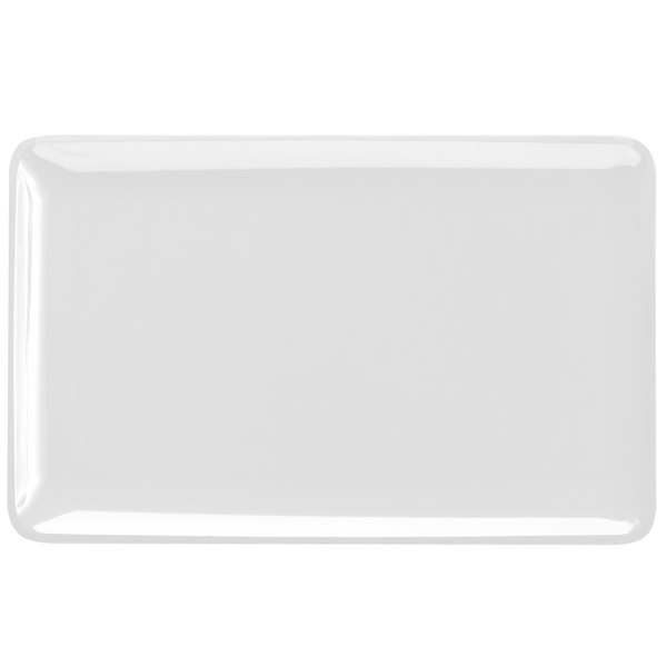"Elite Global Solutions M2011RC Belize Display White 20"" x 11"" Rectangular Melamine Tray"