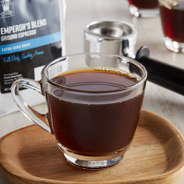 Crown Beverages 12 oz. Emperor's Blend Ground Espresso