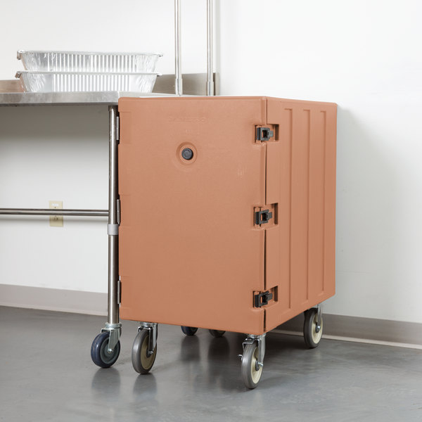"Cambro 1826LTC157 Camcart Coffee Beige Mobile Cart for 18"" x 26"" Sheet Pans and Trays Main Image 5"