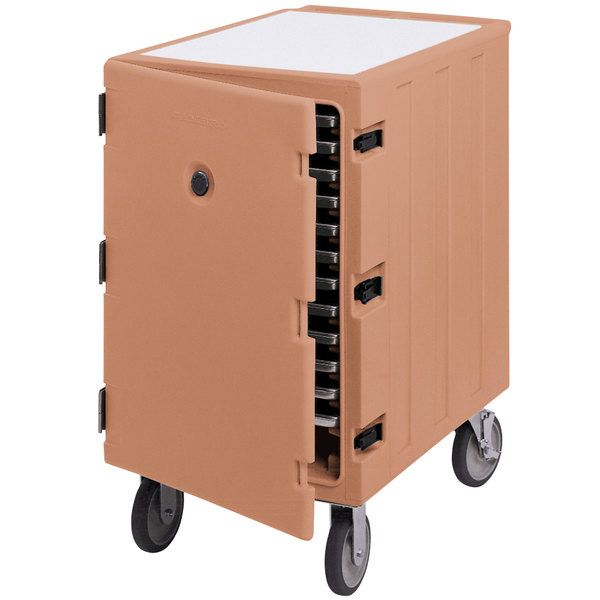"""Cambro 1826LTC157 Camcart Coffee Beige Mobile Cart for 18"""" x 26"""" Sheet Pans and Trays"""
