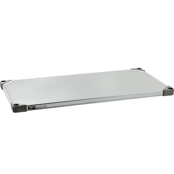 "Metro 1442FG 14"" x 42"" 18 Gauge Flat Galvanized Solid Shelf"