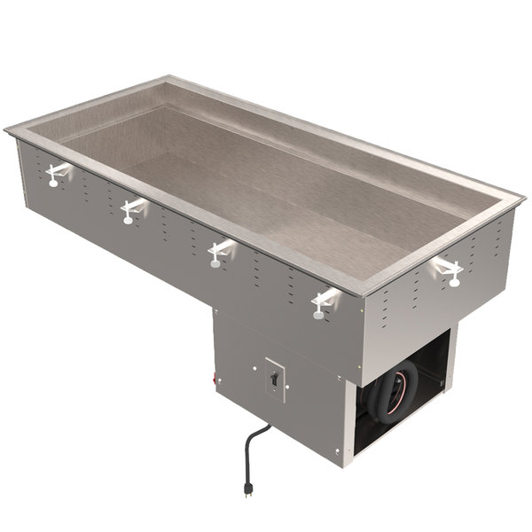 Vollrath 36434R Four Pan Modular Remote Drop In Refrigerated Cold Food Well