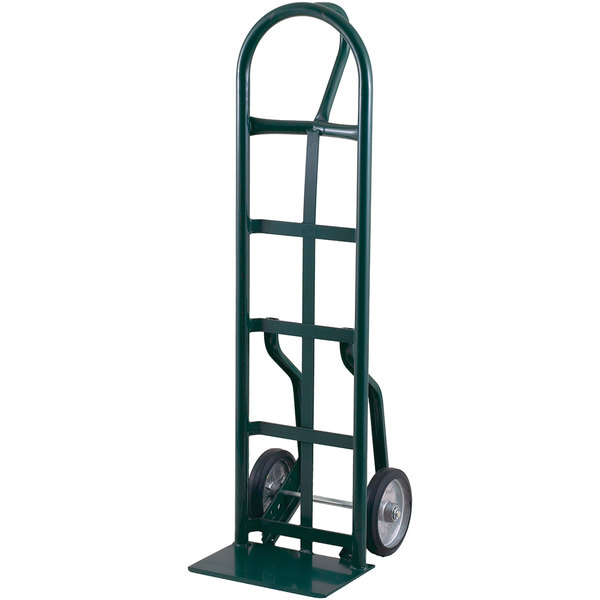 """Harper 56NT77 Loop Handle 800 lb. Narrow Frame Steel Hand Truck with 8"""" x 1 5/8"""" Mold-On Rubber Wheels"""