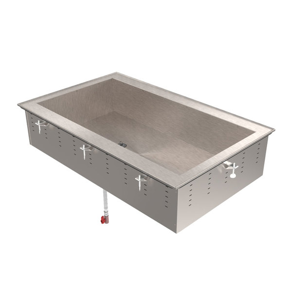 Vollrath 36657 Short Side Three Pan Ice-Cooled Drop In Cold Food Well