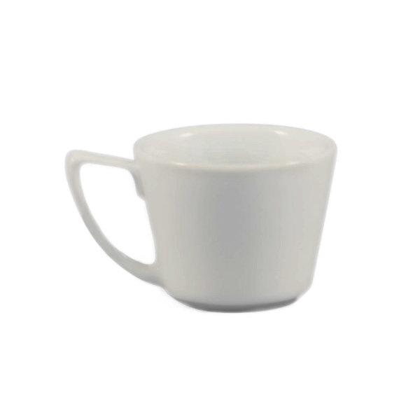 CAC PRM-2-P Clinton 2 oz. Bright White Rolled Edge Porcelain A.D. Cup - 36/Case