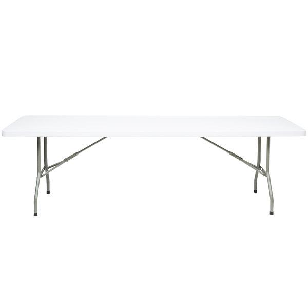 Flash Furniture Folding Table, 30 inch x 96 inch Plastic, White Granite - RB-3096-GG