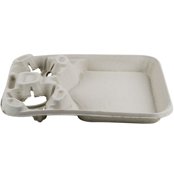 Huhtamaki Chinet 20990 Strongholder 2 Cup Carrier With Large Tray