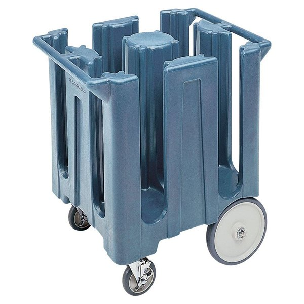 Cambro DC825401 Slate Blue Poker Chip Dish Dolly / Caddy with Vinyl Cover - 4 Column