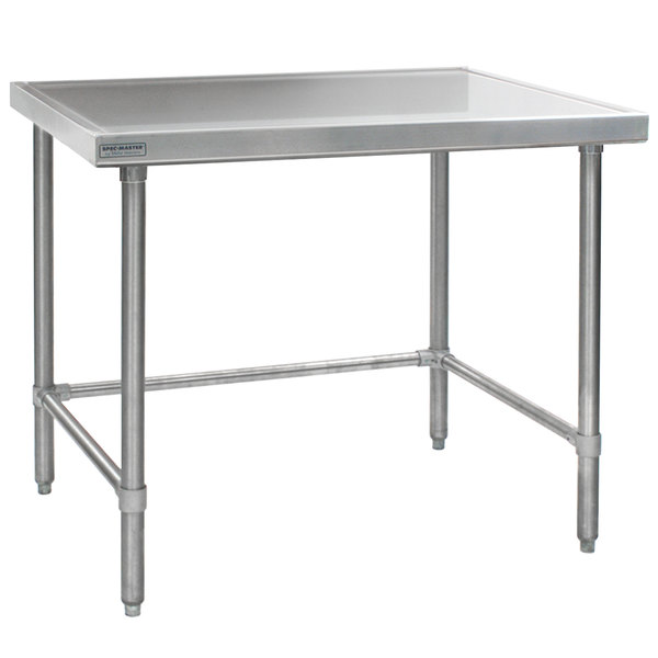 """Eagle Group T3660GTEM 36"""" x 60"""" Open Base Stainless Steel Commercial Work Table"""