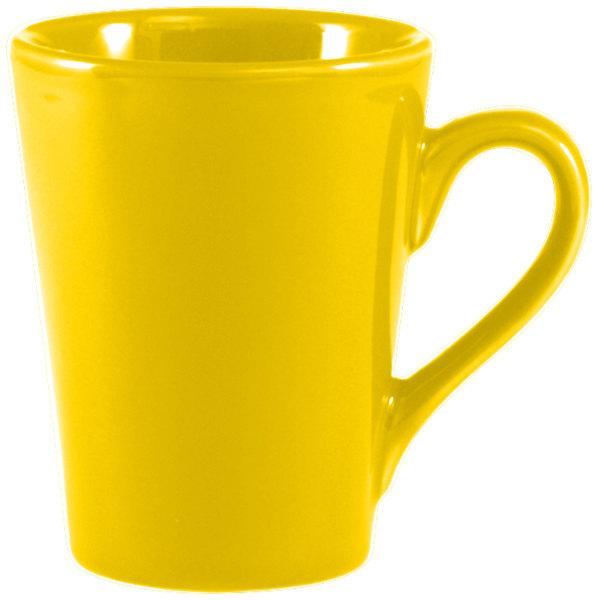 CAC VC-12-Y Yellow 10 oz. Venice Victory Mug - 36/Case