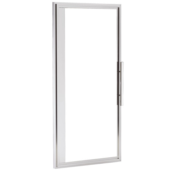 """True 933713 Left Hinged Glass Door Assembly with Stainless Steel Frame - 54 1/4"""" x 26 3/4"""""""