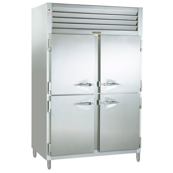 Traulsen RET232NUT-HHS Stainless Steel 46 Cu. Ft. Two Section Half Door Even Thaw Reach In Refrigerator - Specification Line Main Image 1