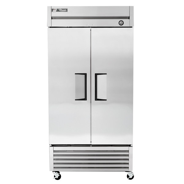True T-35 40 inch Two Section Solid Door Reach in Refrigerator