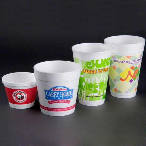 Dart 4j6 4 Oz Customizable White Foam Food Container 1000 Case