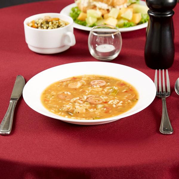 Arcoroc 22514 Opal Restaurant White 23 oz. Rim Soup Bowl by Arc Cardinal - 24/Case