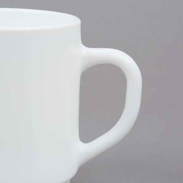 12 x White Porcelain Arcoroc Cappuccino Espresso Cup Mug Tea Coffee Stackable