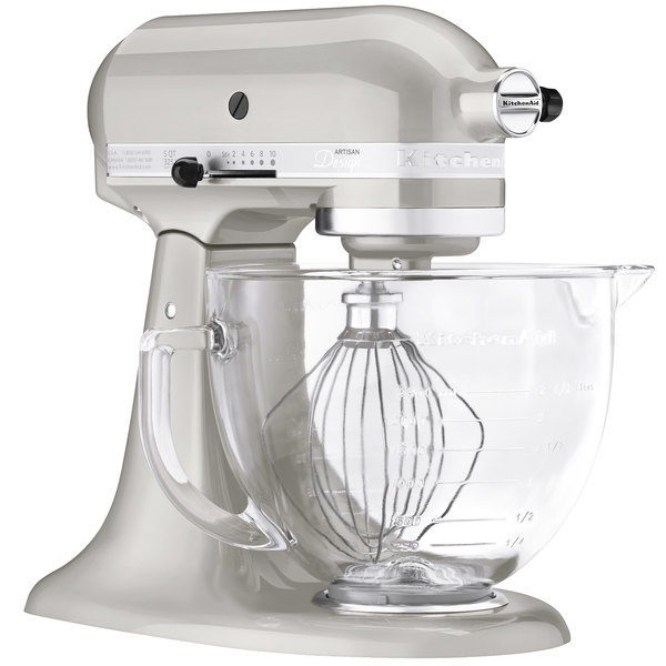 Good KitchenAid KSM155GBSR Sugar Pearl Silver Premium Metallic Series 5 Qt.  Countertop Mixer. Image Preview · Main Picture ...