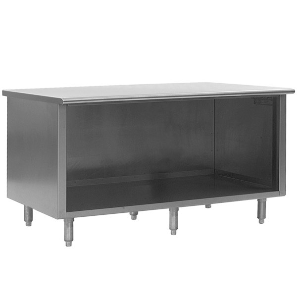 """Eagle Group OB30120SE 30"""" x 120"""" Work Table with Open Front Cabinet Base"""