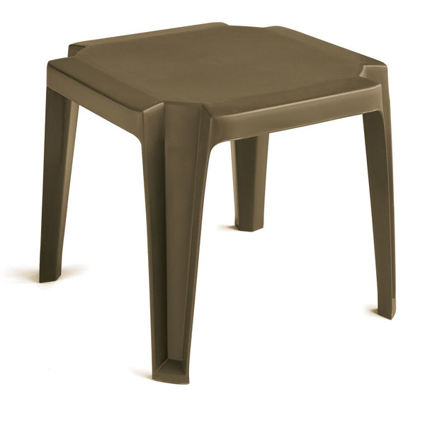 """Case of 30 Grosfillex 52099037 / US529837 Miami 17"""" x 17"""" Bronze Mist Resin Low Table"""