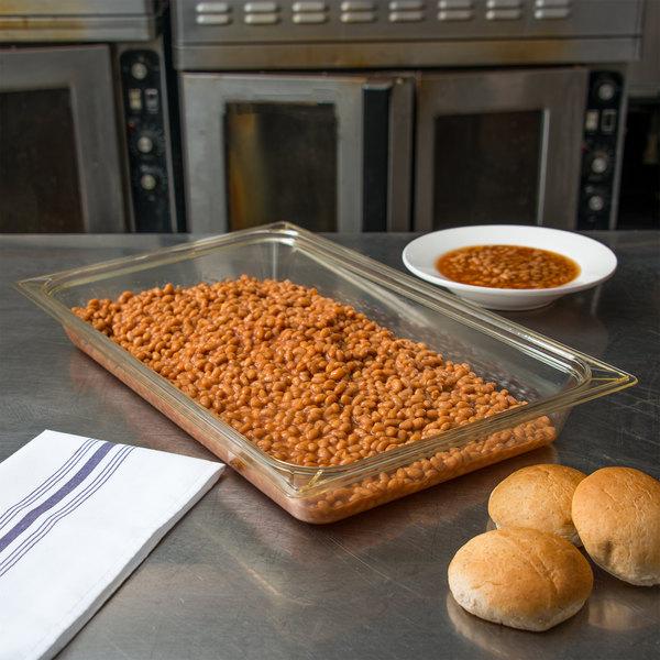 "Carlisle 10400B13 StorPlus Full Size Amber High Heat Food Pan - 2 1/2"" Deep"