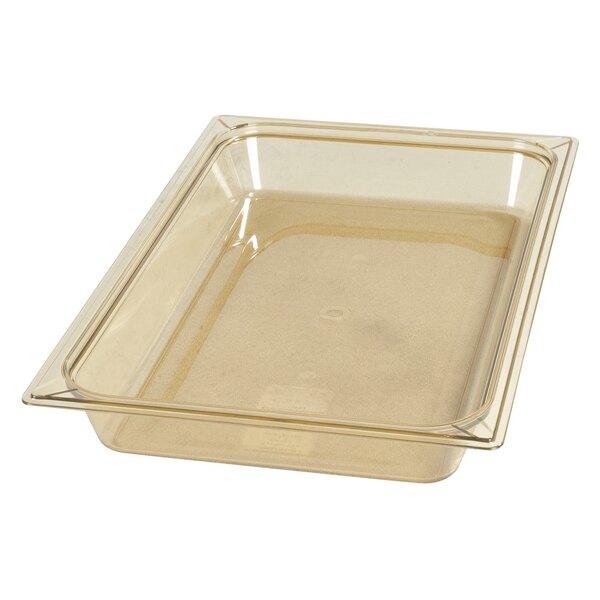 Carlisle 10400B13 StorPlus Full Size Amber High Heat Food Pan - 2 1/2 inch Deep